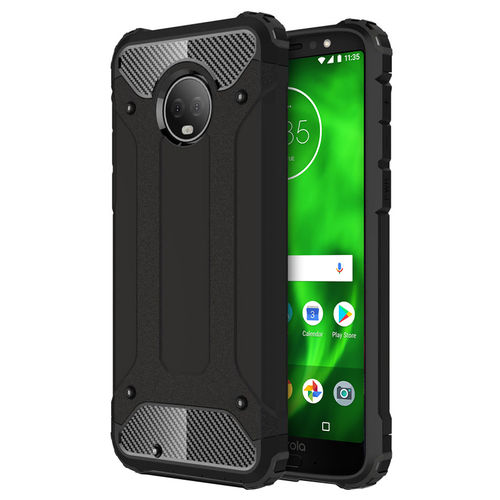 Military Defender Shockproof Case for Motorola Moto G6 - Black